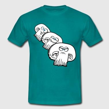 morsom tegneserie tegneserie sopp champignon venne - T-skjorte for menn