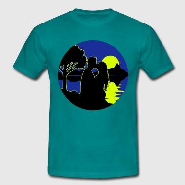 täysikuu romantiikkaa luonto - Miesten t-paita