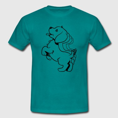 Diseño dulce bebé perro - Camiseta hombre