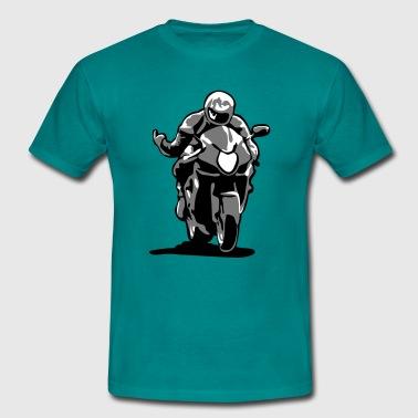 Wyścig motocykli - Koszulka męska
