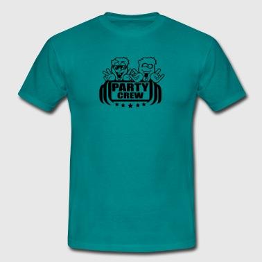Crew hårdrock heavy metal räcker undertecknar sata - T-shirt herr