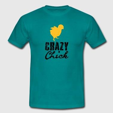 gek kuiken jonge kip kuiken kip haan vrouwelijk kr - Mannen T-shirt