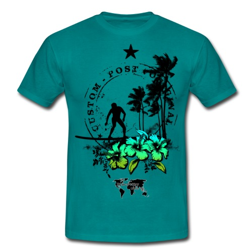Fiori Hawaii - Maglietta da uomo