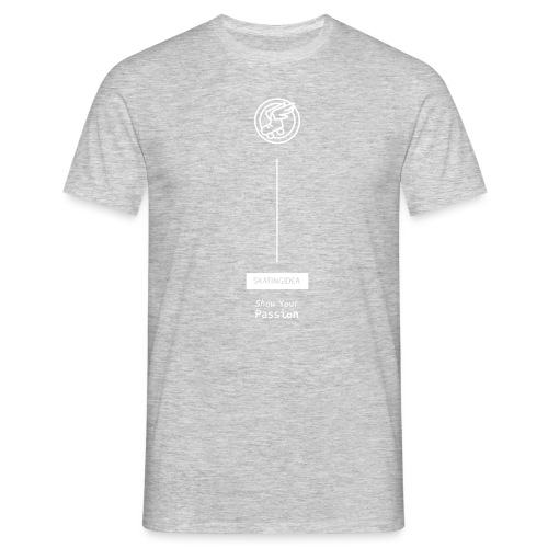 skatingidea logo white - Maglietta da uomo