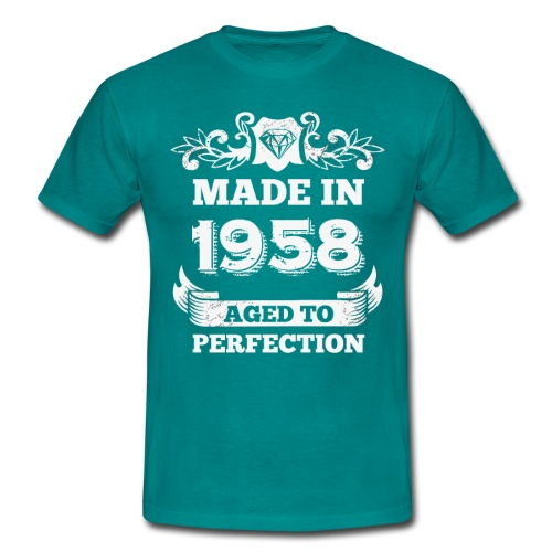 60th Birthday gift Made in 1958 Aged to Perfection - Men's T-Shirt