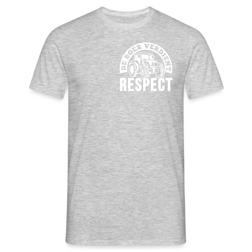 LOGO WIT DeBoerVerdientRespect png - Mannen T-shirt