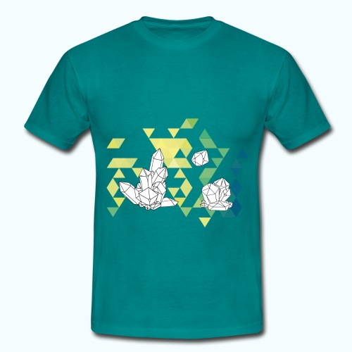 Geometric crystals - Men's T-Shirt