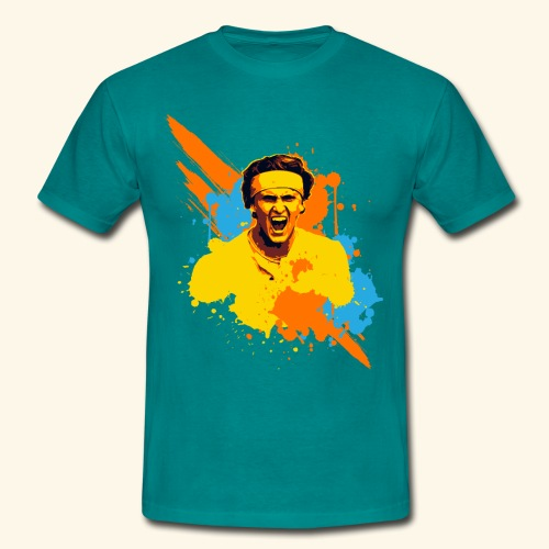 Great expression of a table tennis champion - Männer T-Shirt