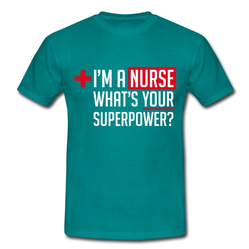 Superpowered Nurse - Men's T-Shirt
