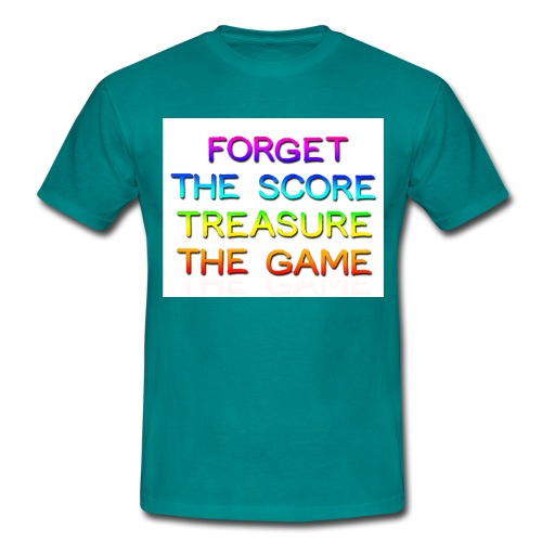 Forget Score Rainbow Bold copy png - Men's T-Shirt