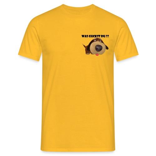 Was guckst du ? - Männer T-Shirt