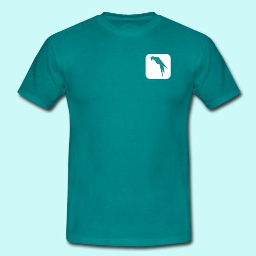 Parrot Security Logo white - Men's T-Shirt