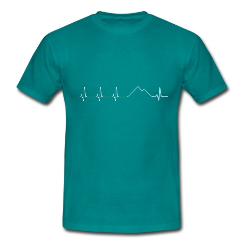 Electrocardiograma blanco - Camiseta hombre