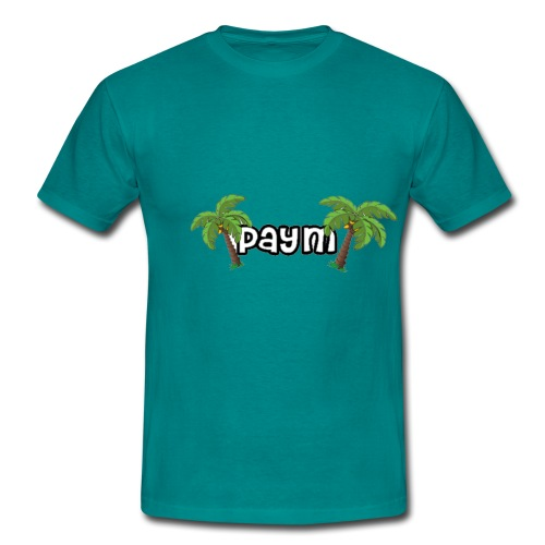 Paym Schrift mit Palmen - Männer T-Shirt