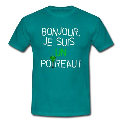 Je suis un poireau (blc) - T-shirt Homme