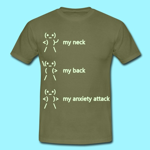neck back anxiety attack - Men's T-Shirt
