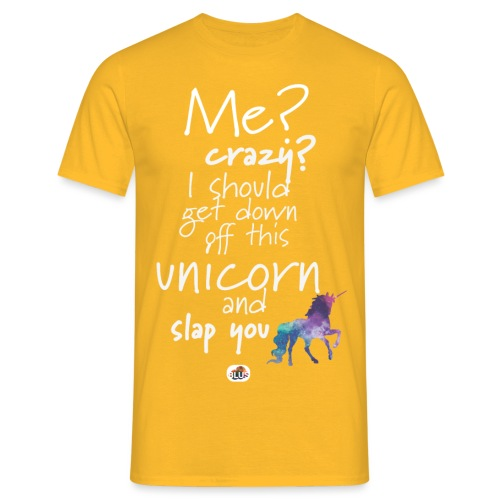 Crazy Unicorn - Light with picture - Men's T-Shirt