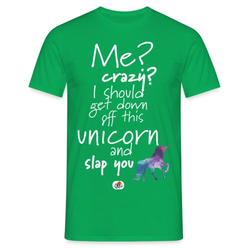 Crazy Unicorn - Light with picture - Men's T-Shirt