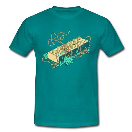 Modular Synthesizer - Turquoise - Männer T-Shirt