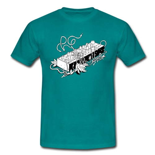 Modular Synthesizer - Black & White - Männer T-Shirt