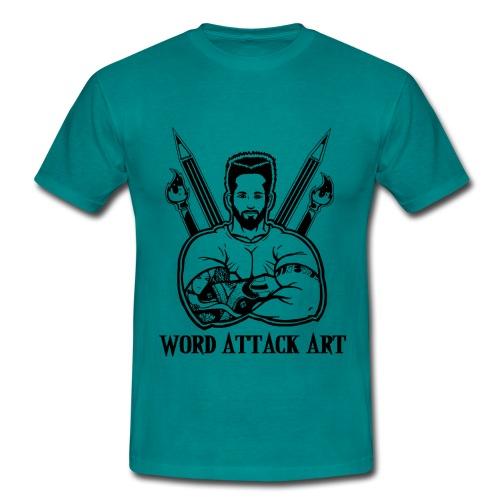 Word Attack Art - Männer T-Shirt
