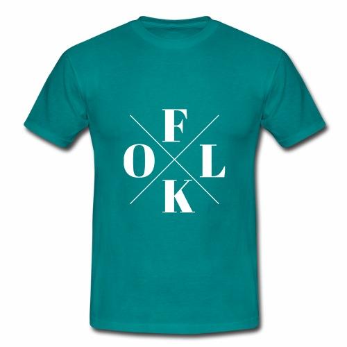 Folk Logo White - Men's T-Shirt