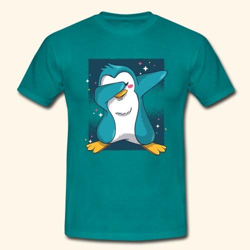 Dabbing Penguin - Men's T-Shirt