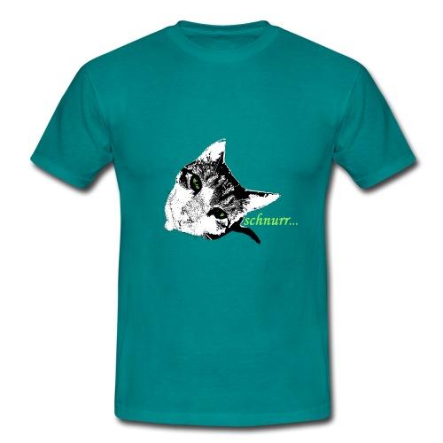 Katze schnurr - Männer T-Shirt