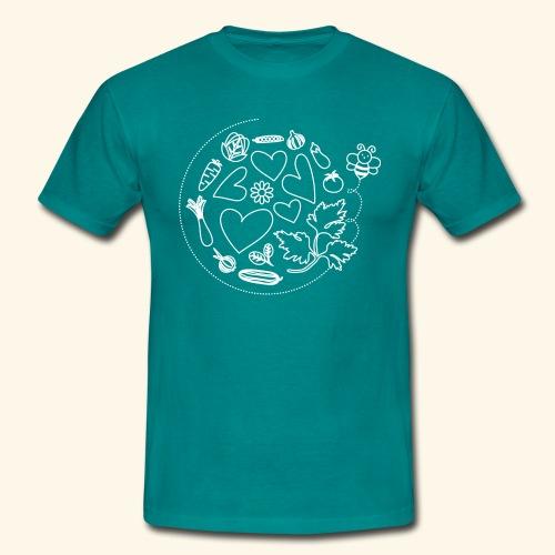 Abeja en el huerto - Camiseta hombre