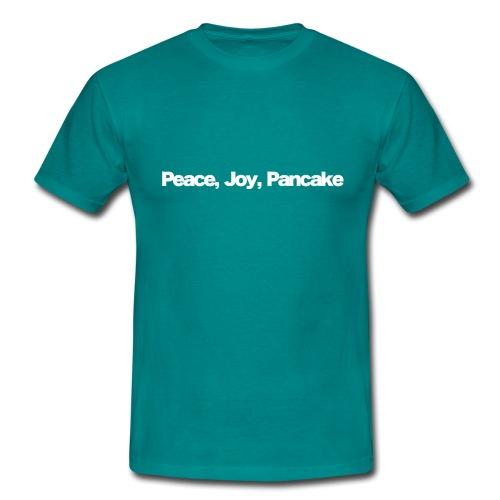 peace joy pankake white 2020 - Männer T-Shirt