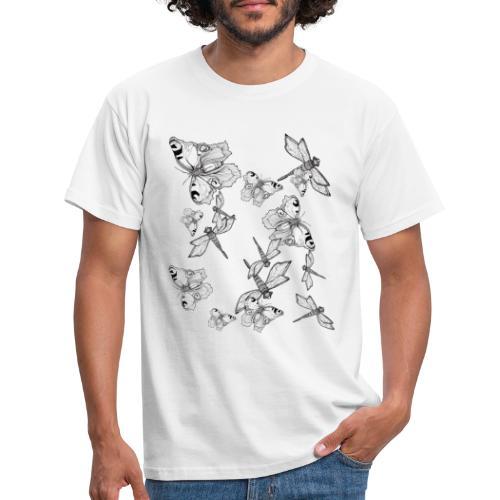 Libelle und Schmetterling - Glaube und Wahrheit - Männer T-Shirt