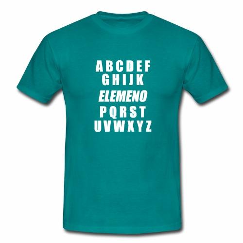 Buchstaben des Alphabets und Schreibelemente in de - Männer T-Shirt