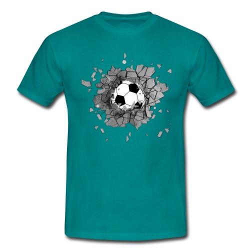 Football durch wand - Männer T-Shirt