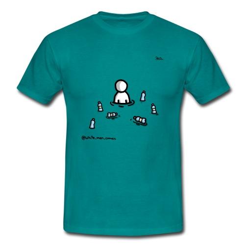 white man nel mare di plastica - Maglietta da uomo