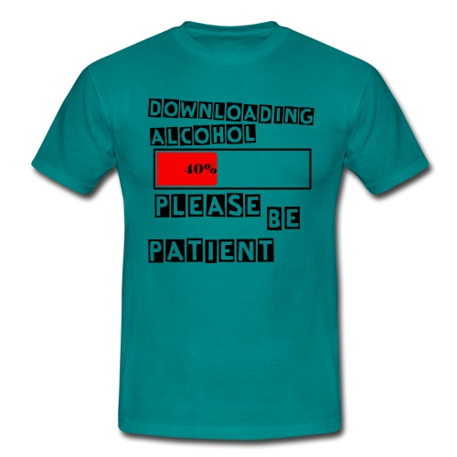 Downloading alcohol - T-skjorte for menn