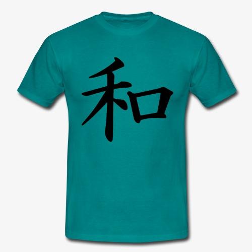 Japanische Schrift, Frieden/ Peace Motiv T-Shirt - Männer T-Shirt