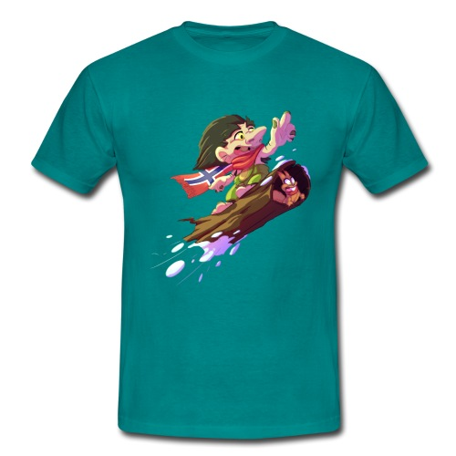 Troll snowboarder - T-shirt Homme