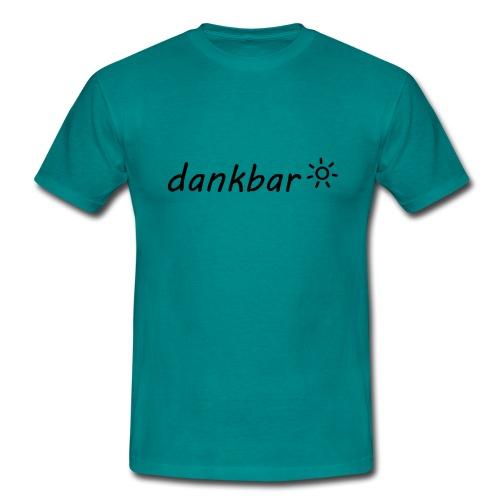 dankbar, schwarz - Männer T-Shirt