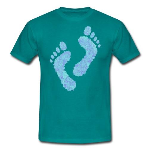 Barefoot on the Beach, Fun Summer Textiles, Gifts - Miesten t-paita