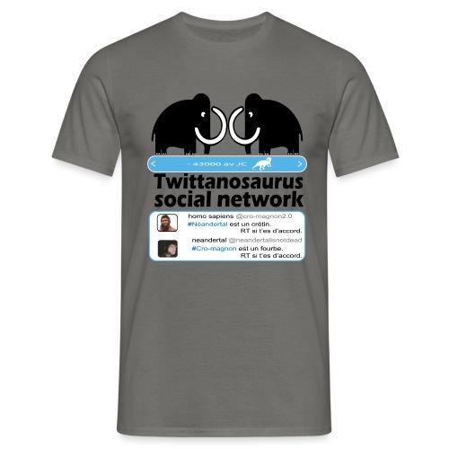 homo sapins versus neandertal - T-shirt Homme