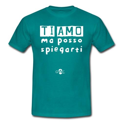 Ti amo MA - Maglietta da uomo