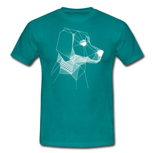 Golden Retriever Geometrisch Wit - Mannen T-shirt