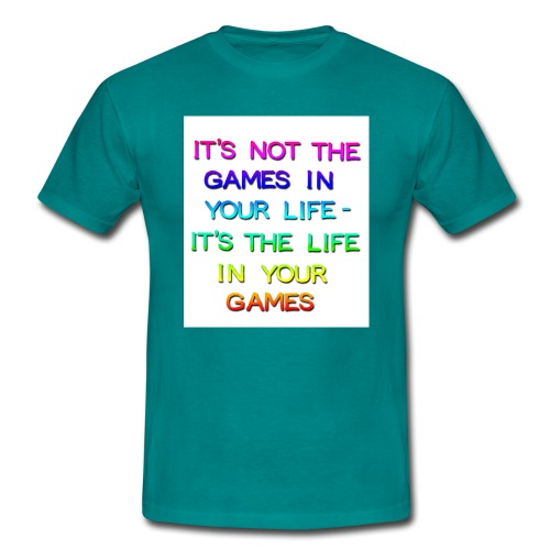 Games in yr Life Rainbow copy png - Men's T-Shirt