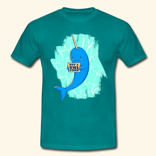 Narwhal With Not a Unicorn Sign - Men's T-Shirt
