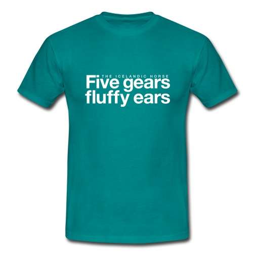 Five gears fluffy ears - T-skjorte for menn