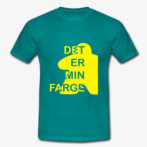 Det er min farge - T-skjorte for menn