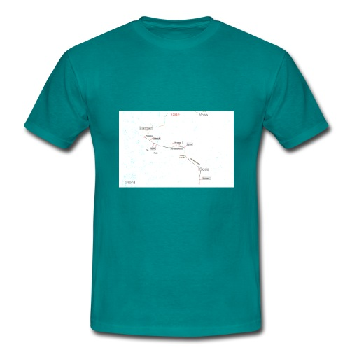 Hordalandsdiagonalen 02 - T-skjorte for menn