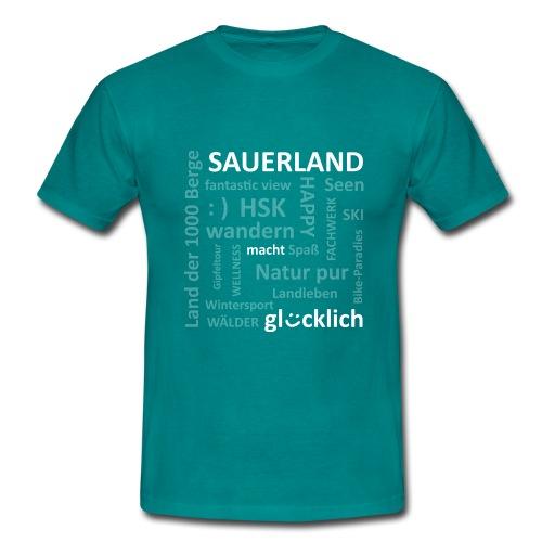 Sauerland_macht_gluecklic - Männer T-Shirt