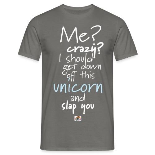 Crazy Unicorn - Dark - Men's T-Shirt