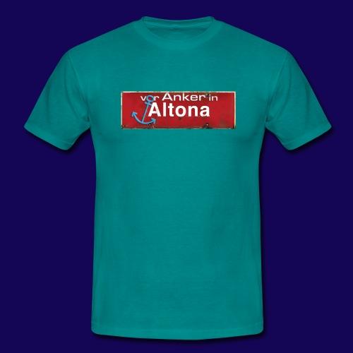 Vor Anker in Altona, Hamburg: Antik-Ortsschild - Männer T-Shirt